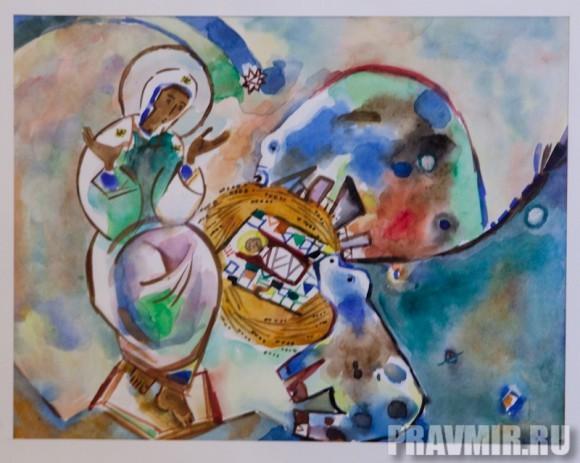 Качалов Валентин, Рождество. Бум.акварель, 20х25, 2005, Челябинск