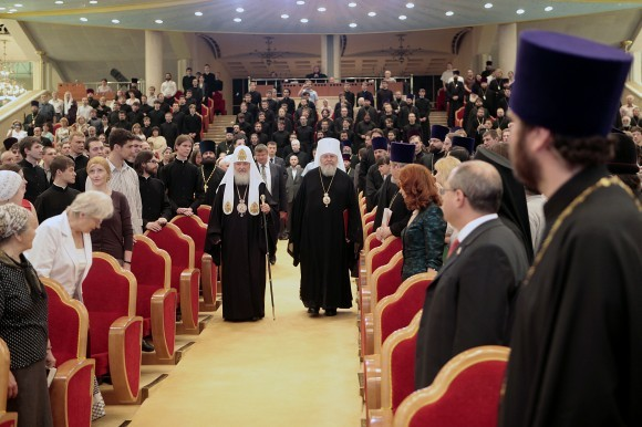 Святейший Патриарх Кирилл и митрополит Восточноамериканский Иларион