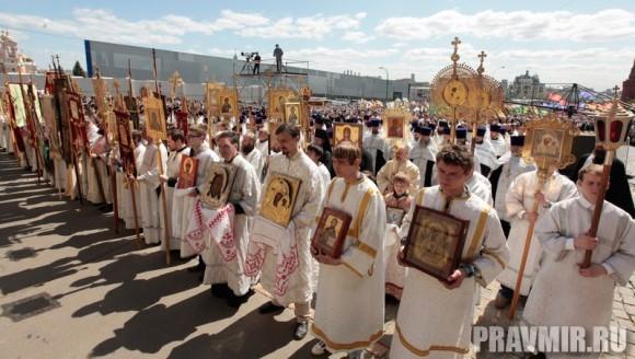 Патриаршая литургия в Кремле и молебен у храма Василия Блаженного. Фото Владимира Ходакова (46)