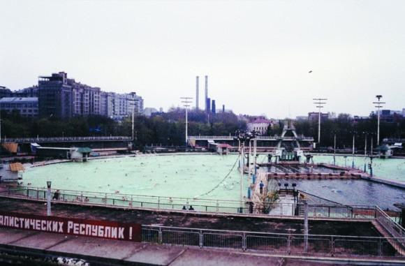 Открытый бассейн «Москва», сооруженный на месте храма Христа Спаcителя