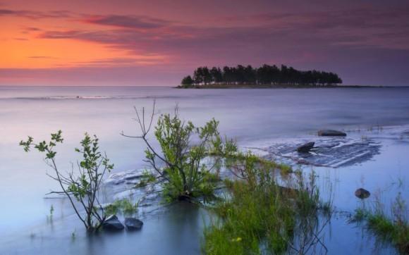 Так приходит рассвет. Ладожское озеро, остров Валаам, Карелия. Автор: Виктор Калеченков