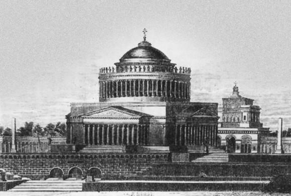 Так по проекту А. Л. Витберга должен был выглядеть Храм Христа Спасителя