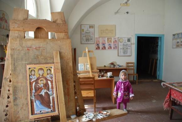 Мастерская в Свято-Никольском храме