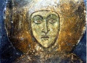 Икона преп. Евфросинии, сделанную, возможно, при ее жизни в Полоцком монастыре