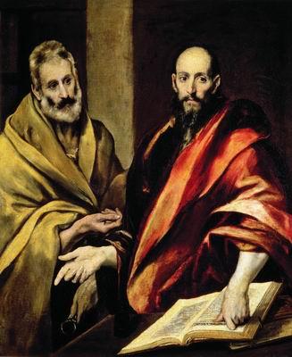 Доменико Эль Греко. Апостолы Петр и Павел. 1587–1592