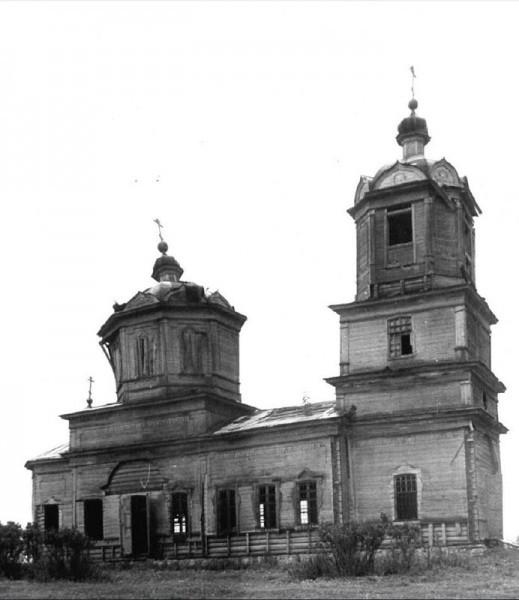 Храм Свт. и Чуд. Николая, с.Озёрки, 1976 г., фото В. Перфильева