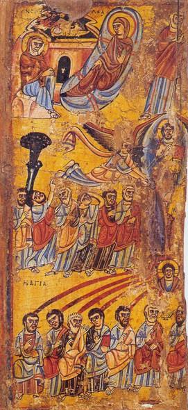 Святая Троица. Пятидесятница Синайская икона - Рождество- воскресение - Вознесение