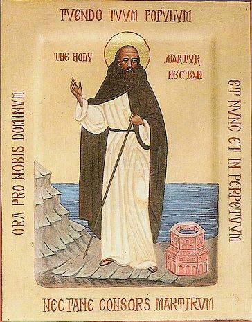 Святой Нектан, отшельник в Девоне