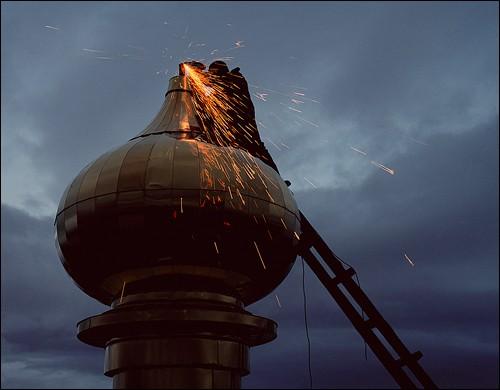 В ночь на Крестовоздвижение. Поселок Угольные копи, Чукотка