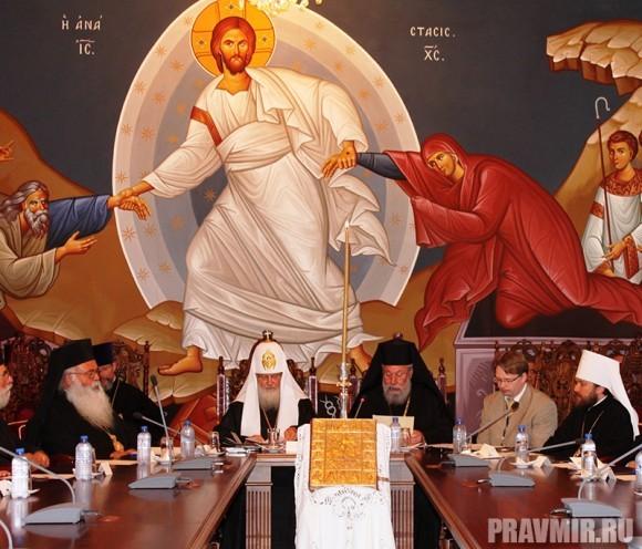 Торжественное заседание Священного Синода Кипрской Церкви в Архиескопии