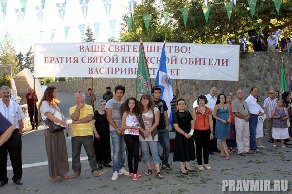 Киприоты со всех концов страны приехали посмотреть на Первоиерарха Русской церкви