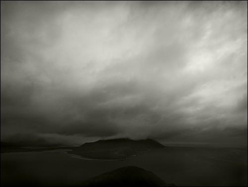 Туман в бухте Провидения. Бухта Провидения, Чукотка