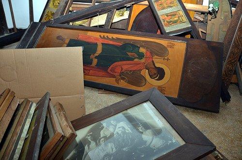 Демонтированный иконостас в Успенском храме. Фото: flickr.com