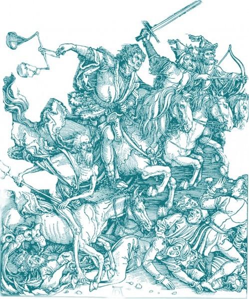 Иллюстрация: «Апокалипсис (Четыре всадника)». Альбрехт Дюрер, 1498 г.