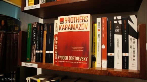 Шкаф с русскими книгами довольно большой. Я насчитал несколько сот произведений русских авторов разных эпох. Все изданы в США.