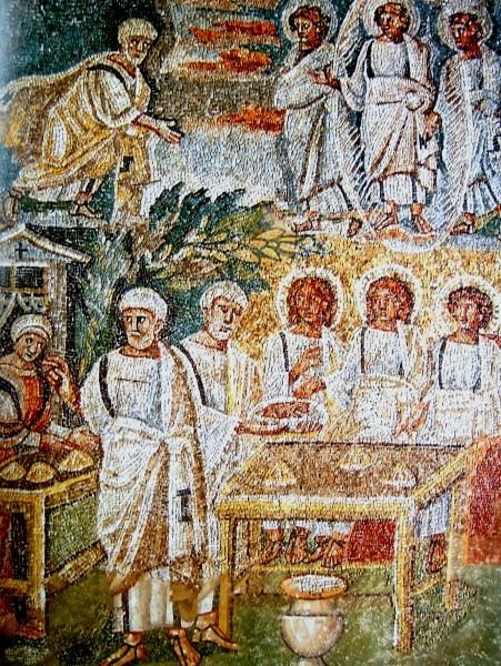 Гостеприимство Авраама. Санта-Мария Маджоре