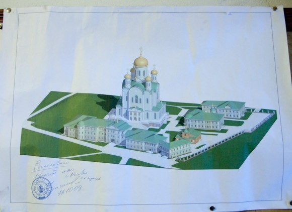 Эскиз будущего храма