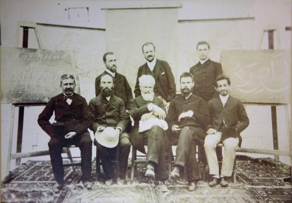 В. Н. Хитрово с преподавателями Назаретской мужской учительской семинарии ИППО