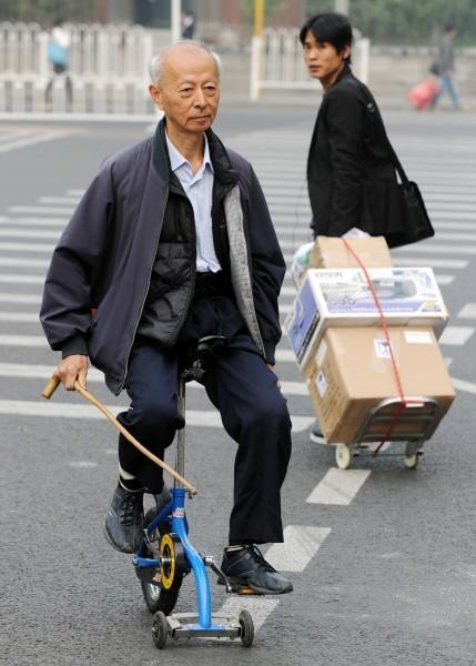 Микровелосипед для пожилых людей. Пекин, 2011 год