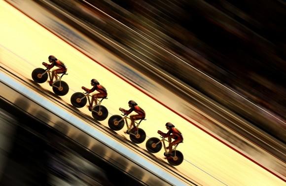 Команда Испании по велоспорту на Чемпионате мира в Мельбурне, 2012 год