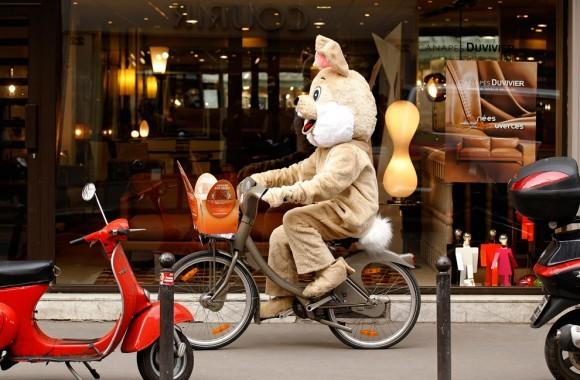 Пасхальный кролик. Париж, 2012 год