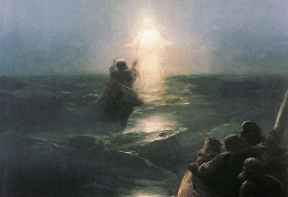 И. К. Айвазовский. Хождение по водам. 1888. Фрагмент