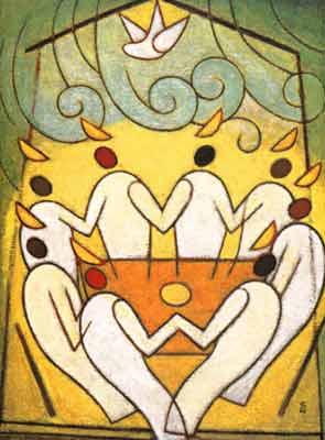 Святая Троица. Пятидесятница Японский образ Пятидесятницы