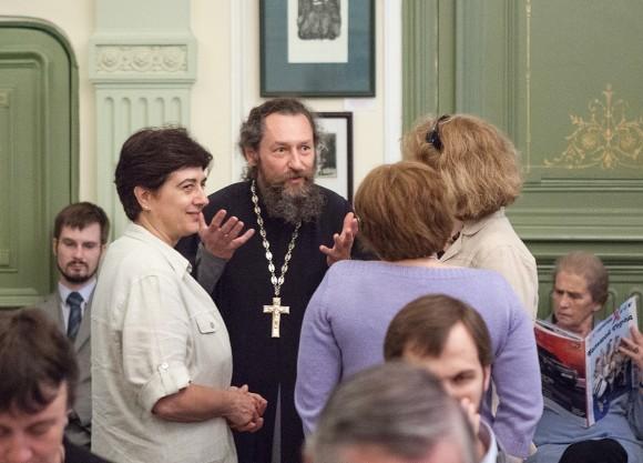 Протоиерей Андрей Юревич, Джованна Парравичини перед презентацией