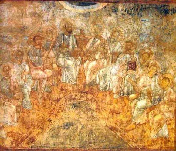 Пятидесятница. Софийский собор, 1040-1050 гг.