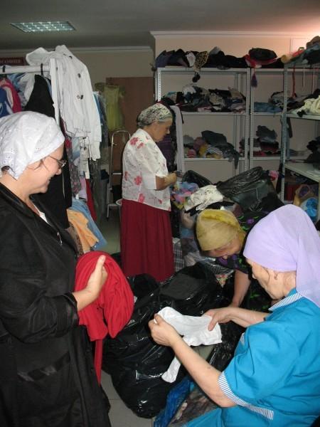 Сюда свозили помощь и из других благочиний – Динского, Горячеключеского, Туапсинского