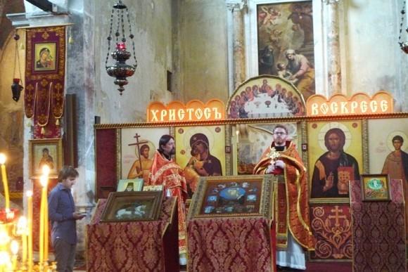 В пасхальные дни на приходе Святых Жен-Мироносиц в Венеции