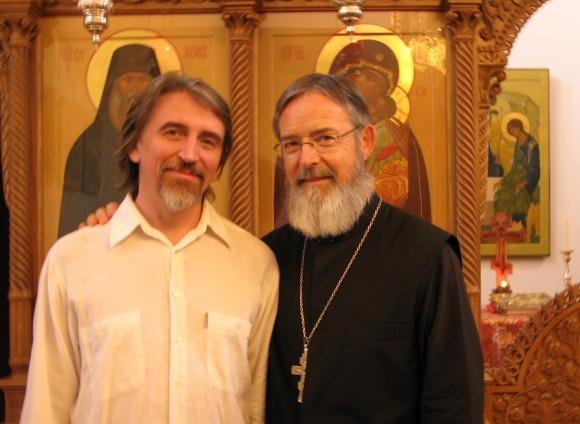 Павел Бусалаев и о. Мишель Кено, 2010 г. Фото из архива Павла Бусалаева