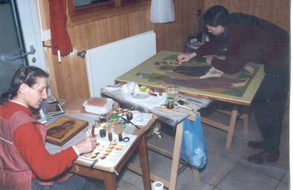 У о. Мишеля с его женой Елизаветой. Фото из архива Павла Бусалаева