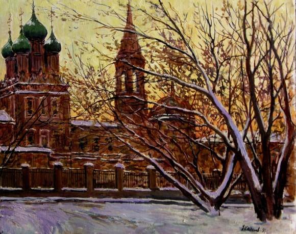 В.Качанов. Кадаши. Зимний вечер.1991