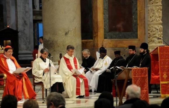 Вечерня памяти новомучеников в базилике святого Павла за стенами