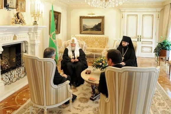 Встреча Святейшего Патриарха Кирилла с министром Андреа Риккарди