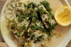 Постная еда с Анной Людковской: треска с зеленым луком и белым вином
