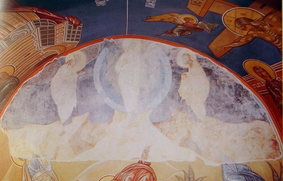 Фрагмент росписи Успенского собора во Владимире. Андрей Рублев