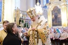 Всенощное бдение в Успенском соборе Смоленска (ФОТО)