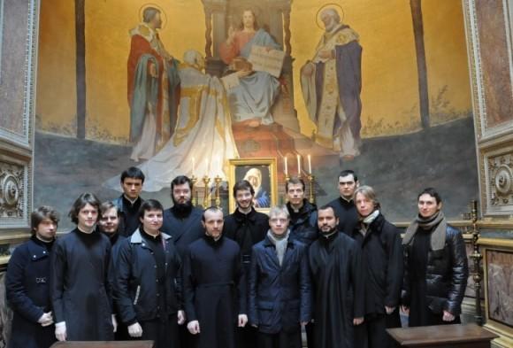 Со студентами Парижской семинарии в базилике святого Климента