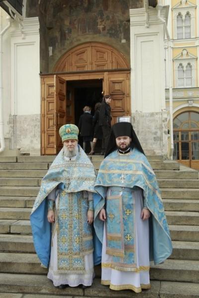 С секретарем Святейшего Патриарха по г. Москве протоиереем Владимиром Диваковым