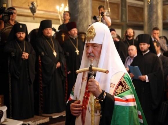 Святейший Патриарх Кирилл во время визита в Константинополь в 2009 году