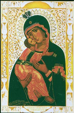 Владимирская икона Божией Матери из собора в Санкт-Петербурге