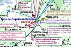 Ученики Преподобного Сергия – основатели обителей: ИНФОГРАФИКА