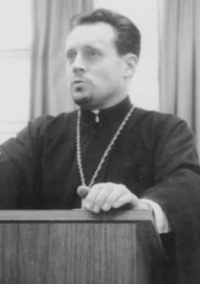 Прот. Иоанн Мейендорф, преподаватель церковной истории и патристики в Св. Владимирской семнарии, 1959