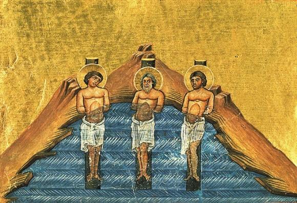 Миниатюра Минология Василия II. Константинополь. 985 г. Ватиканская библиотека. Рим
