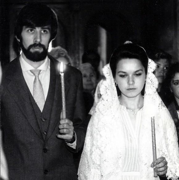 Супруги Первозванские, венчание