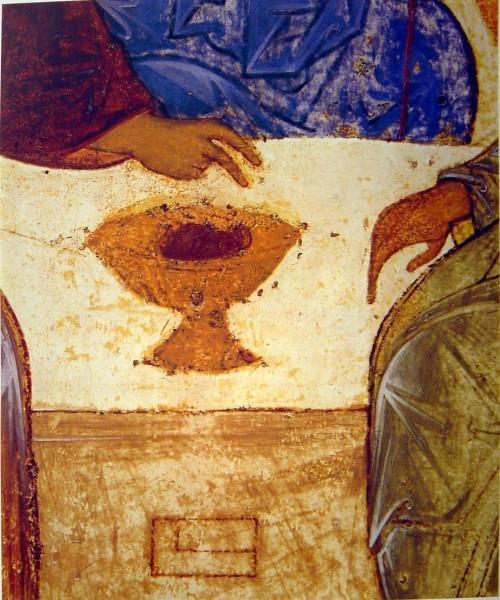 Троица, фрагмент. Андрей Рублев