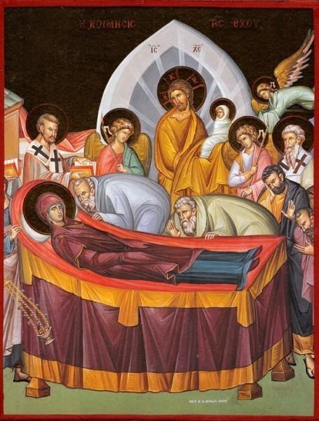 Успение Божией Матери. Греческая икона