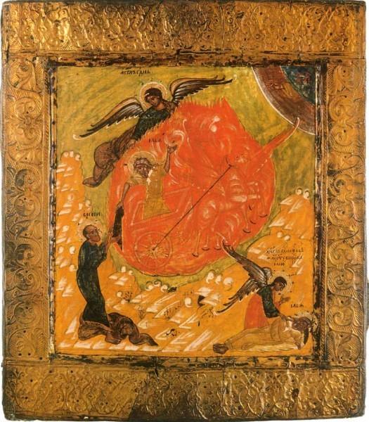 Огненное Восхождение Ильи Пророка с деяниями   XVII в. Северные письма